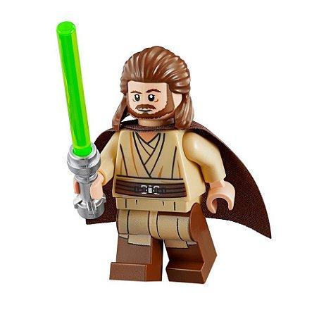 Boneco Qui-Gon Jinn Star Wars Lego Compatível