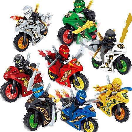 Kit Ninjago Moto Lego Compatível c/ 8