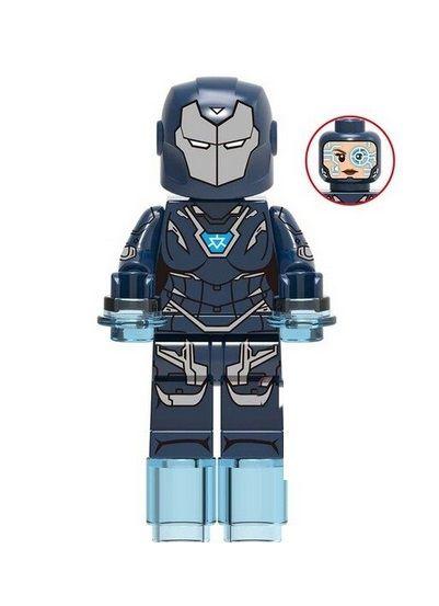 Boneco Pepper Potts Armadura Lego Compatível - Marvel (Edição Especial)