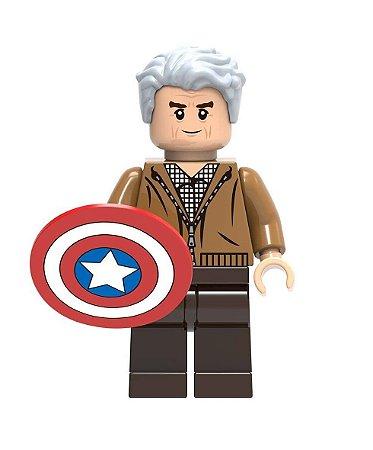Boneco Capitão América Velho Lego Compatível - Marvel (Edição Especial)