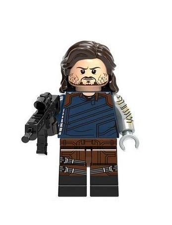 Boneco Soldado Invernal Lego Compatível - Marvel