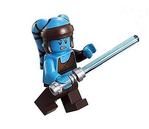 Boneco Aayla Secura Star Wars Lego Compatível