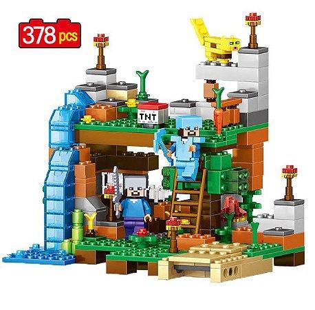 Set Minecraft LEGO Compatível 4 em 1 (378 peças)