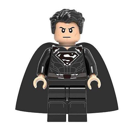 Boneco Superman Traje Preto (Snyder Cut) Lego Compatível - Dc Comics (Edição Especial)