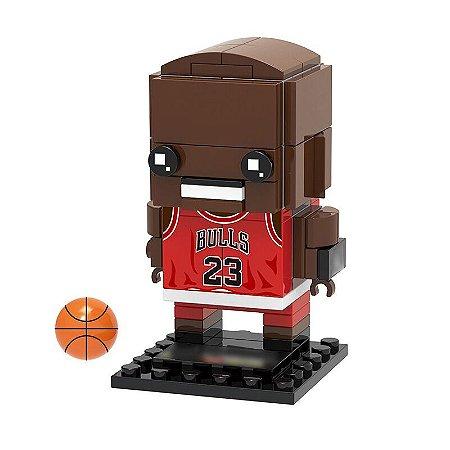 Bloco de montar Brickheadz Michael Jordan 81 pçs (Lego Compatível)