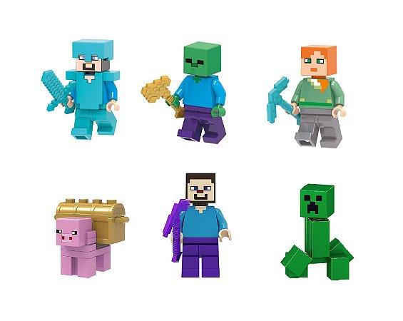 Kit Minecraft Lego Compatível c/6