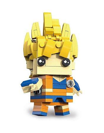 Bloco de montar Brickheadz Goku Super Saiyajin 179 pçs - Dragon Ball Lego Compatível