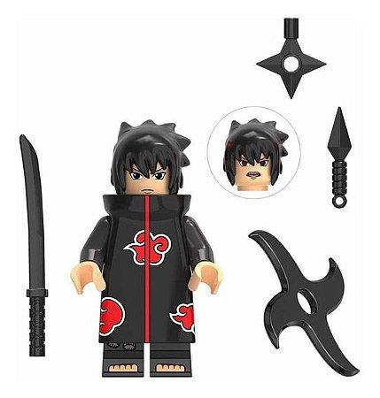 Boneco Sasuke Lego Compatível - Naruto Shippuden (Edição Deluxe Akatsuki)