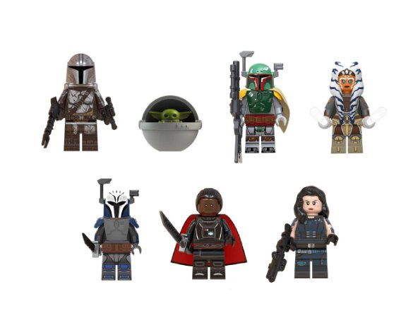 Kit Mandaloriano Star Wars Lego Compatível C/ 7