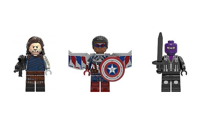 Kit Falcão e o Soldado Invernal LEGO compatível - Marvel c/3 (Edição Deluxe)