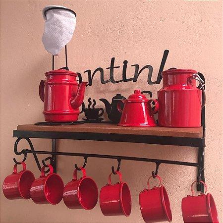 Kit Completo Cantinho do Café  - Vermelha