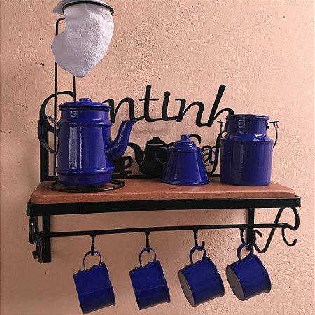 Kit Completo Cantinho do Café  -  Azul