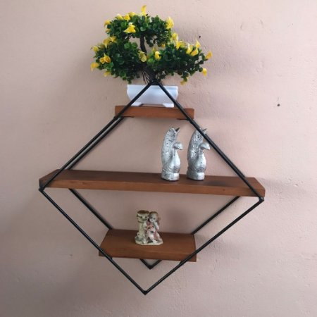 Prateleira Decorativa Parede Losango