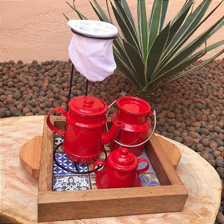 Mini Kit Cantinho do Café Vermelho