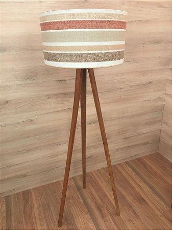 Luminária de Chão Tripé Madeira