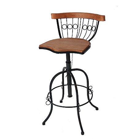 Cadeira Ferro E Madeira Bistrô