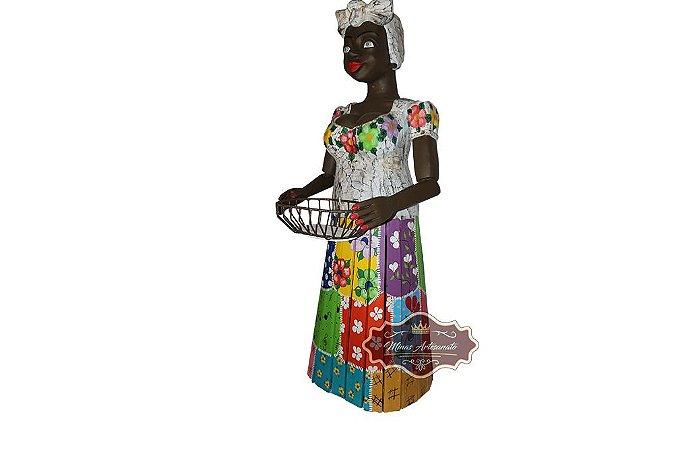 Boneca Serviçal com Fruteira - 1,65 metro de Altura