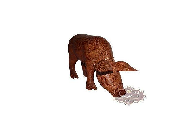 Porquinho em Angelim - 38 cm