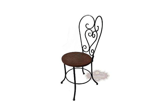 Cadeira Ferro e Madeira Arabesco