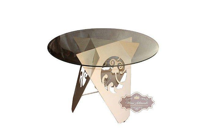 Mesa com Pé de Ferro - Base 75 cm