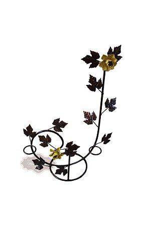 Castiçal de Mesa com Flores