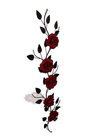 Aplique de Tranças de 5 Rosas