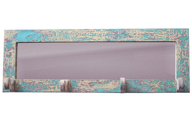 Porta Toalha Com Moldura - Patina Colorida