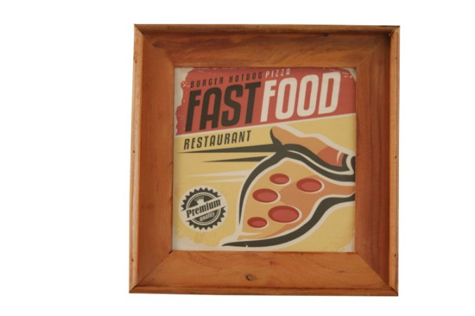 Quadrinho decorativo Fast Food