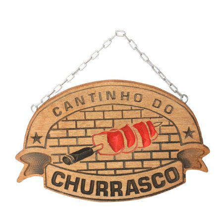 Placa Cantinho do Churrasco - Artesanal - Envio Imediato