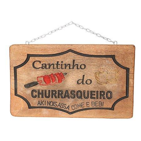 Placa Canto do Churrasco Decorativa - Promoção