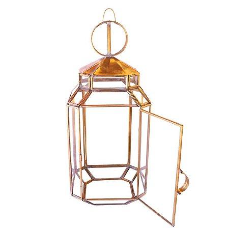 Luminária Lamparia Marroquina Ferro Dourado