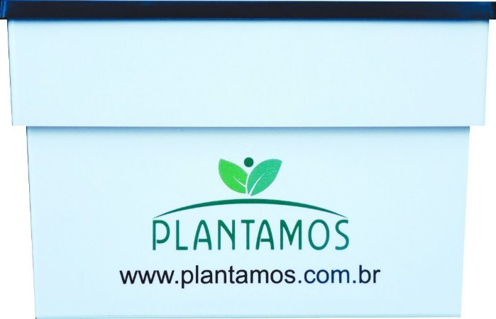 Vaso Auto Irrigável Plantamos - Branco