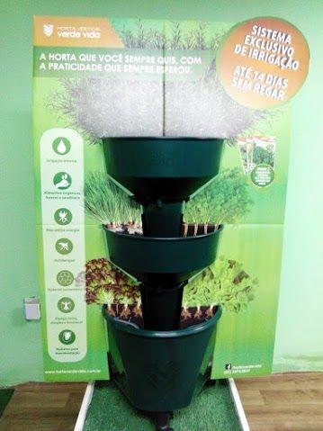 Horta Vertical Auto Irrigável Verde Vida