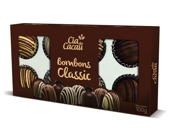 CHOCOLATE LEITE  BOMBONS CLASSIC 100g