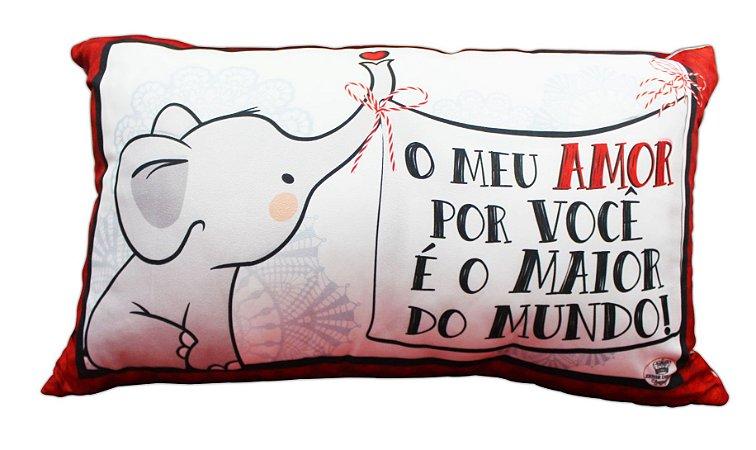 ALMOFADA ELEFANTINHO AMOR