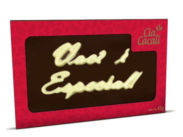 PLACA DE CHOCOLATE AO LEITE 45g