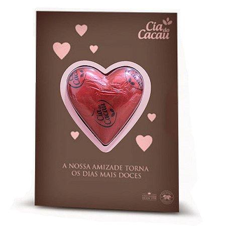 CARTÃO CHOCOLATE LEITE CORACAO 30g