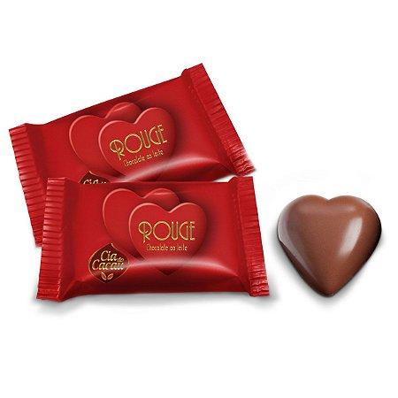 CHOCOLATE ROUGE CORAÇÃO AO LEITE 10g