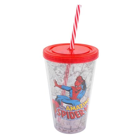 CRIATIVA COPO CANUDO SPIDER MAN 500 ml