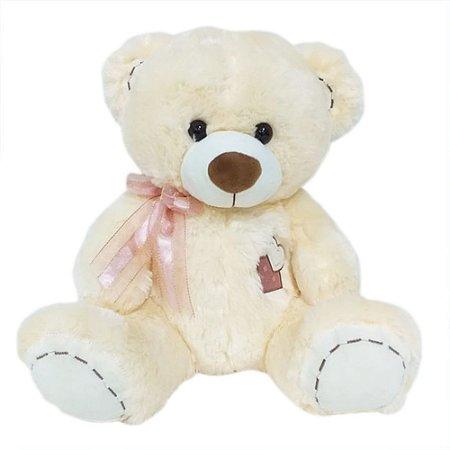Urso laço rosa