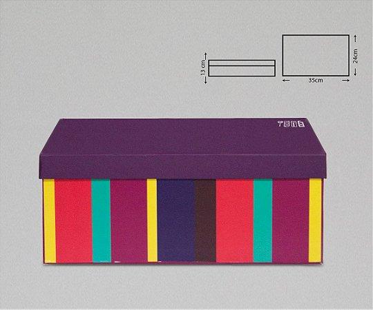 CAIXA PAPER BOX RETANGULAR 35X25X13CM
