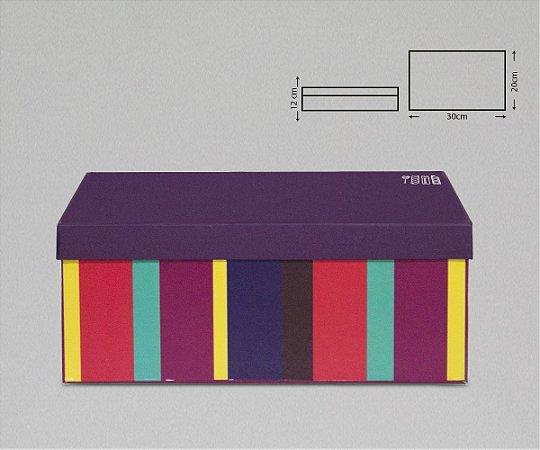 CAIXA PAPER BOX RETANGULAR 30X20X12CM