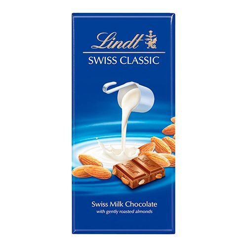 Lindt Chocolate com amêndoas 100g