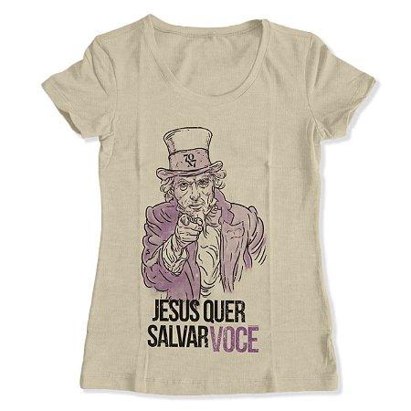 Camiseta Feminina - Jesus quer Salvar você