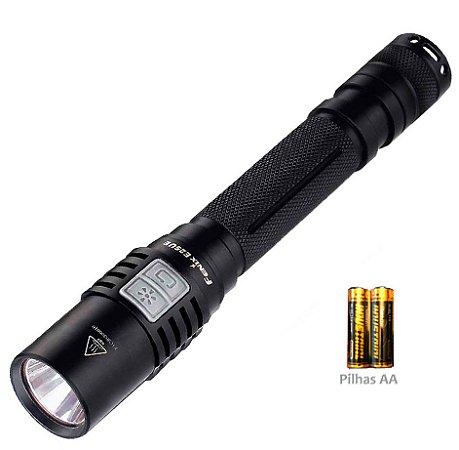 Lanterna Led Cree Fenix E25 UE Potente 1000 Lumens + 2 pilhas AA uso Diário EDC