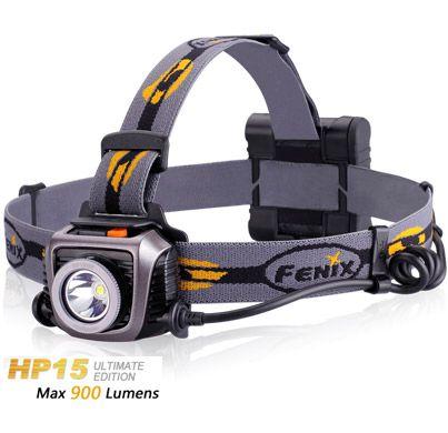 Lanterna clinica Médica Fotóforo de Cabeça Fenix HP15 UE Profissional 4 pilhas AA 900 Lumens Foco Concentrado