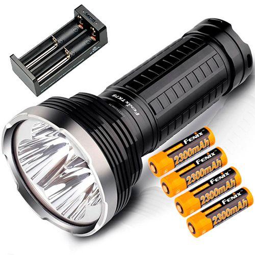 Kit Completo Lanterna Holofote Fenix TK75 4000 lumens 4 Leds Cree Alta Potência Caça Busca ou Resgate