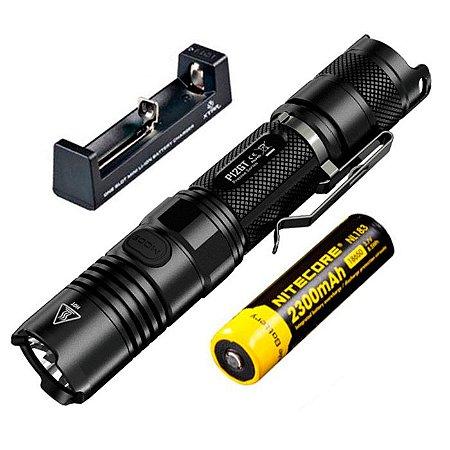 Lanterna Tática Profissional NiteCore P12 GT Led Cree de 1000 Lumens  + Bateria e Carregador