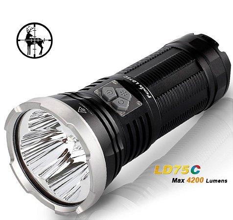 Lanterna Holofote Fenix LD75 C 4200 lumens 4 Leds Cree branco e Coloridos RGB Alta Potência Caça Busca ou Resgate
