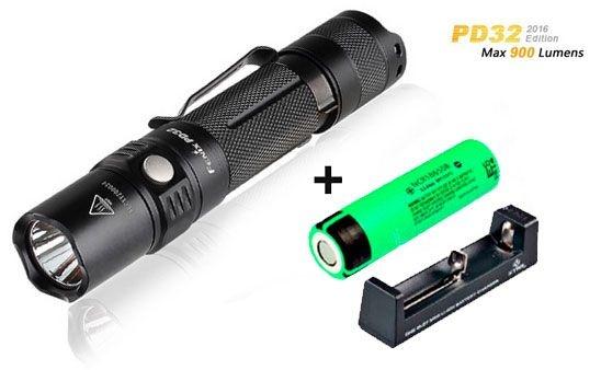 Lanterna Tática Fenix PD32 Pro Led Cree 900 Lumens + Bateria e Carregador - Última Geração 2016